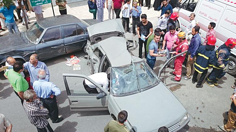 حوادث ترافیکی پژو