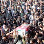 تشییع پیکر مطهر شهید مدافع حرم در حرم رضوی