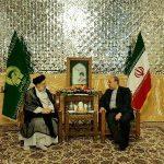 تبادل نظر ایت الله رئیسی و سلطانی فرد در خصوص برنامه های مشهد ۲۰۱۷