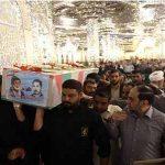 تشییع جانباز شهید محمدزاده در حرم رضوی