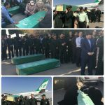 ورود سه شهید مدافع حرم به فرودگاه مشهد