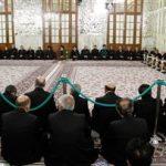 آیین سنتی «صفه» با حضور آیت الله رئیسی در بارگاه منور رضوی برگزار شد
