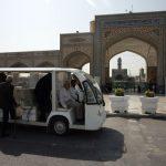 جابهجائی زائران از پارک سوار با ۱۸ دستگاه زائربر
