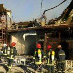 آتش سوزی کارگاه ۲ طبقه مبل سازی مهار و اطفاء شد