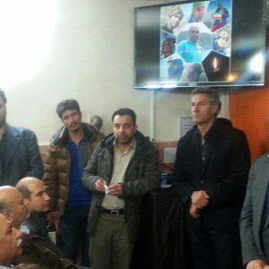 حضور رییس و جمعی از اعضای شورای شهر مشهد در مراسم یادبود کوهنوردان مشهدی حادثه اشترانکوه