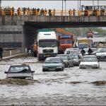 در پی بارش شدید باران صورت گرفت؛ آب گرفتگی ۱۸ منزل مسکونی و مغازه در مشهد/ کال قرهخان سرریز شد!