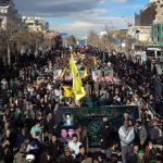 پیکرهای ۱۰ شهید دفاع مقدس و مدافع حرم در مشهد تشییع شد