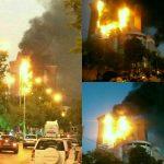 برج سلمان در آتش مهیب سوخت
