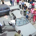 برخورد پژو با تماشاچیان حادثه تصادف ۲ کشته و ۷ مصدوم برجای گذاشت