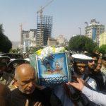 مراسم تشییع پیکر مادر شهید صیاد شیرازی