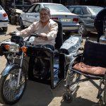 """اهدای موتورسیکلت ۳ چرخ از سوی آستان قدس رضوی به """"حاج مرتضی"""""""