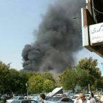 انبار لوازم مستعمل در یکی از بیمارستان های مشهد طعمه آتش شد