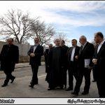 بازدید دکتر روحانی از نمایشگاه عملکرد دولت در رفع مشکلات حاشیه نشینی مشهد مقدس