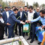 بازدید شهردار مشهد از بخشهای مختلف آرامستان بهشت رضا(ع)