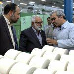 تولید چادر مشکی و نخ نازک در کارخانه نخریسی و نساجی خسروی خراسان