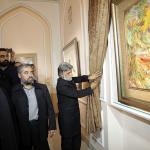 نگاره اهدایی استاد فرشچیان در موزه آستان قدس رضوی رونمایی شد