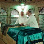 مراسم غبارروبی مضجع مطهر حضرت امام رضا(علیهالسلام) برگزار شد