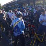 به مناسبت گرامی داشت مقام خبرنگار؛ اصحاب رسانه در مشهد دوچرخه سواری کردند