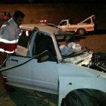 امدادرسانی به ۶ مصدوم واژگونی ال نود/نجات جان ۳ سرنشین واژگونی پراید