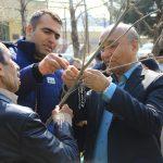 در منطقه ۲ شهرداری مشهد صورت پذیرفت؛ کاشت نهال با ثبت پلاک به نام ورزشکاران مدال آور