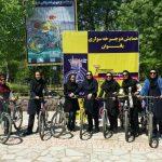 همایش دوچرخه سواری بانوان در مشهد برگزار شد